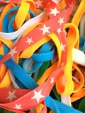 Colorful laces Stock Images
