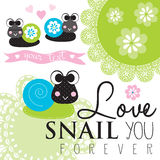 Colorful lacy snails vector Stock Photo