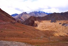 Colorful Ladakh mountain range Stock Photography