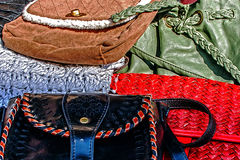 Colorful ladies purses Stock Photography