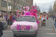 Colorful Ladies Ride in the Mardi Gras Parade Royalty Free Stock Photo