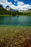 Colorful Lake. Swiftcurrent Lake, Many Glacier, Montana Stock Images