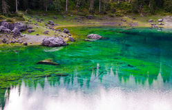 Colorful lake Stock Photos