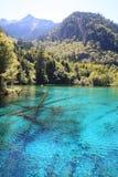 Colorful Lake In Jiuzhaigou National Park Stock Photo