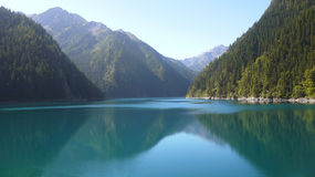 Colorful lake in Jiuzhai Valley Stock Photography