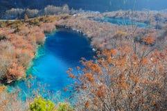 Colorful lake in Jiuzhaigou, China Stock Photo