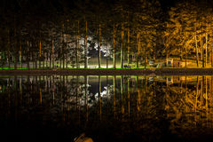 Colorful lake at night. Vith long exposure Stock Images