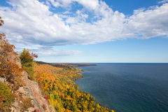 Colorful Lake Superior Shoreline with Dramatic Sky Stock Images