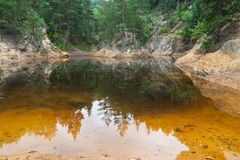 Colorful Lakes in Poland Stock Images