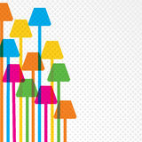 Colorful lamp Royalty Free Stock Image