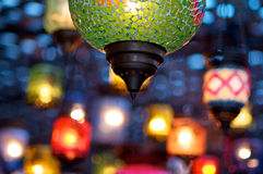 Colorful lamps Stock Photography