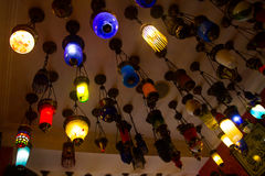 Colorful lamps Stock Photo