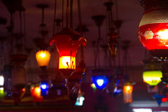 Colorful lamps Royalty Free Stock Photo