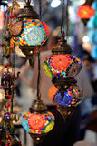 Colorful lamps at the Grand Bazaar in Istanbul. Stock Images