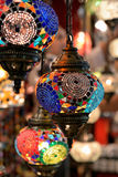 Colorful lamps at the Grand Bazaar in Istanbul. Royalty Free Stock Photography