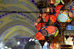 Colorful lamps at the Grand Bazaar in Istanbul. Stock Photography