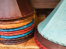 Colorful lampshades Stock Image