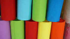 Colorful lampshades Royalty Free Stock Image