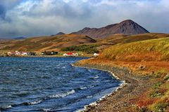 Colorful land around lake Myvatn, Iceland Stock Photo