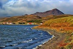 Colorful land around lake Myvatn, Iceland Stock Photo