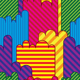 Colorful land seamless pattern Royalty Free Stock Photography