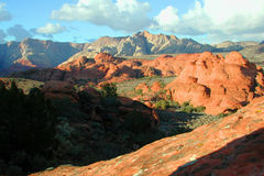 Colorful Landscape. Snow Canyon Royalty Free Stock Photography