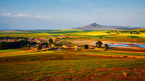 The colorful landscape of Bashang grassland in Hebei province Stock Image