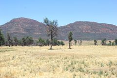 Colorful landscape in Flinders Ranges National Park, South Australia Stock Photo