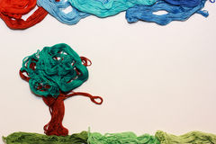 Colorful landscape made by hand Stock Images
