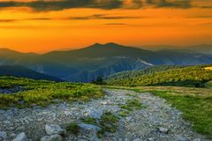 Colorful landscape in the mountains, America travel, beauty world Royalty Free Stock Image