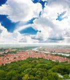 Colorful landscape of Prague (Praha), Royalty Free Stock Images