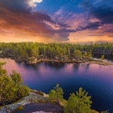 Colorful landscape at sunset sunlight Stock Image