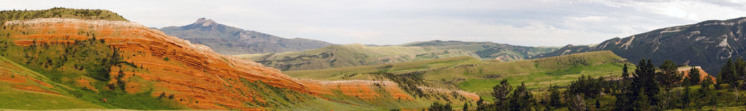 Colorful Landscape Yellowstone National Park Wyoming United States Stock Photography