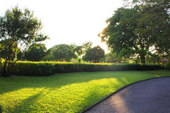 Colorful landscaped formal garden Stock Images