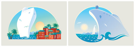 Colorful landscapes on the sea resort Royalty Free Stock Photo