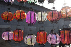 Colorful lantern in beijing Stock Images