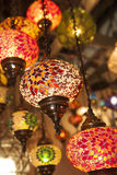Colorful lantern lamps traditional style. Stock Photo