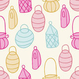 Colorful Lantern Pattern Stock Images