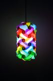 Colorful lantern. On room wall background Royalty Free Stock Photography