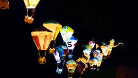 Colorful lantern in Taitung county stock image