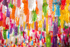 Colorful lantern. In Thai temple Royalty Free Stock Images