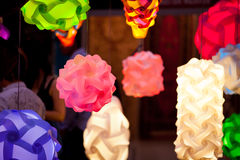 Colorful lanterns. Abstract art background Royalty Free Stock Images