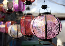 Colorful lanterns in beijing Stock Photography