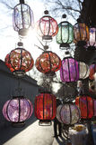 Colorful lanterns in beijing holiday season Royalty Free Stock Images