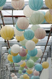 Colorful lanterns royalty free stock image