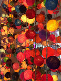 Colorful lanterns made of threads Stock Photos