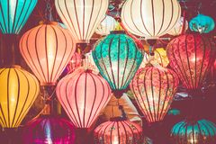 Free Colorful Lanterns Spread Light On The Old Street Of Hoi An Ancient Town - UNESCO World Heritage Site. Vietnam. Stock Photography - 133214562