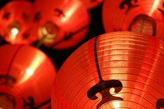 Colorful lanterns ( Tang Lung ) - Chinese New Year decorations Stock Photo