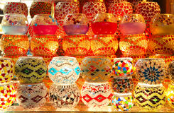 Colorful lanterns in the Turkish bazaar Stock Photo
