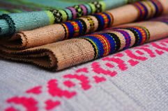 Colorful of Lao fabric Stock Images